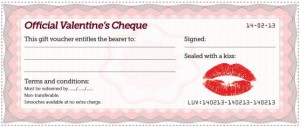 free valentines day cheques