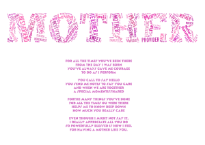 free mother with poem printable