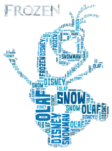 free disney frozen olaf inspired word art print